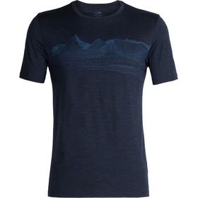 Icebreaker Tech Lite Pyrenees SS Crew Shirt Men Dark Night Heather